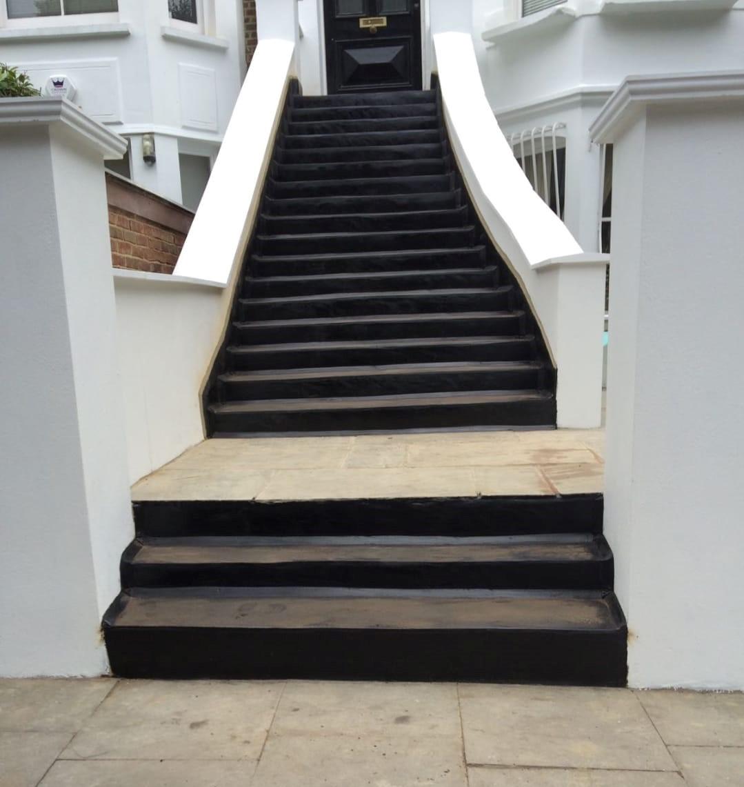 Asphalt Steps London Uk Rj Evans Flat Roofing Limited